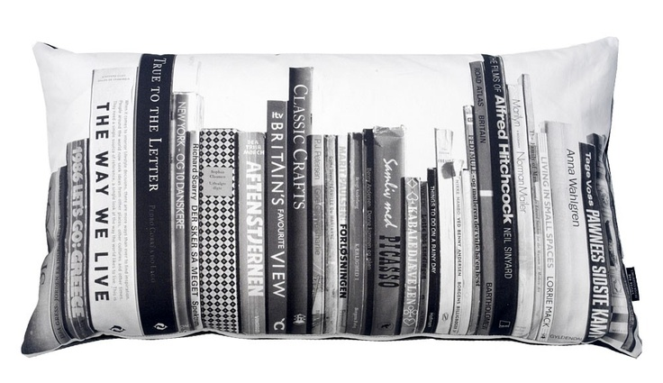 What better place to rest your weary head than on books. Or at least, a pillow MADE of books.