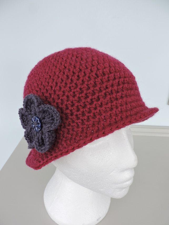 6705dc3669c Cloche Hat for Adults in Deep Pink £14.00  folksy  folksyshop  folksy365