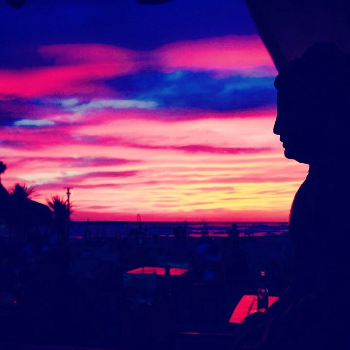 Sunset Singita Miracle Beach Fregene, Rome, Italy beach club, sunset & aperitif