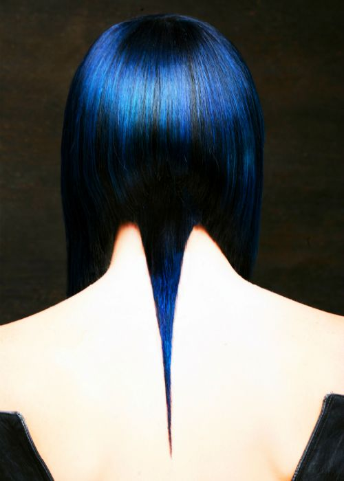 Hair by Lisa Harris for Gila Rut Salon † #hair #hairstyle #haircut #bluehair #dyedhair #fashionforward #directional #LisaHarris #GilaRut #GilaRutSalon