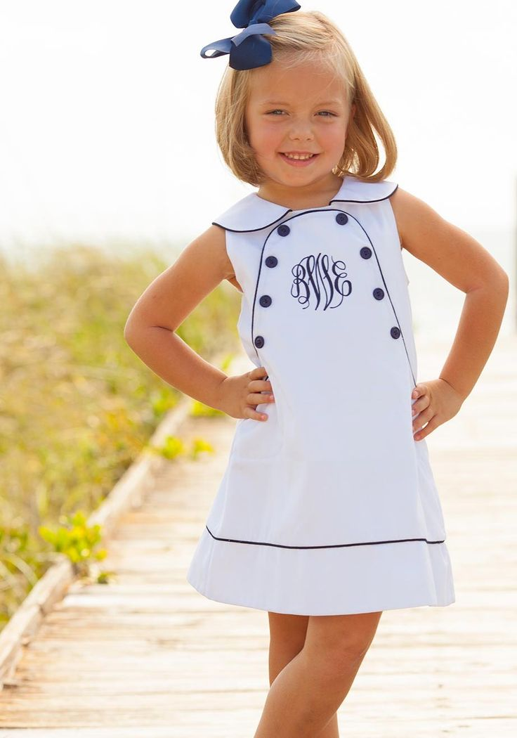 classic sailor dress navy and white preppy summer matching