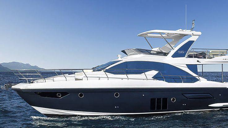 Azimut 56 - O barco de fabricação brasileira possui 17 metros de comprimento, três camarotes, tecnologia de ponta e um flybridge com espaçosa área para lazer, banho de sol, gastronomia e segundo posto de comando.  A embarcação custa a partir de 1,5 milhão de dólares.