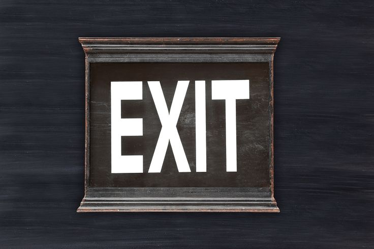 Neve Metal & Glass Wall EXIT Sign