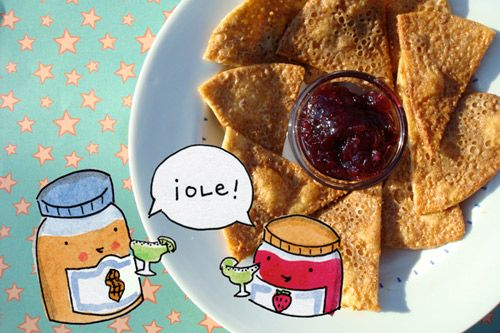 Seeking Sweetness in Everyday Life - CakeSpy - Chip off the Old Block: Peanut Butter Chips with Jelly Salsa Recipe for Peanut Butter andCo.