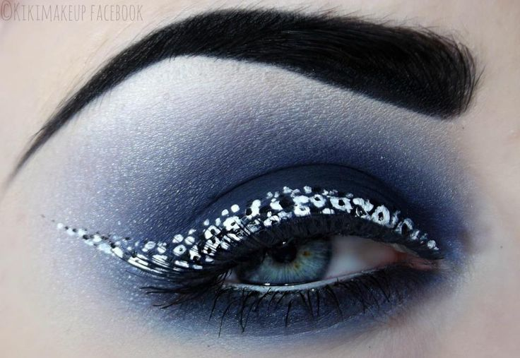dotted eyeliner and smokey eye, using #BitchslapCosmetics @Luciferismydad (kiki makeup)