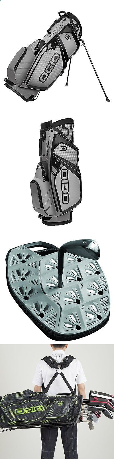 Golf Bags - Golf Club Bags 30109: Ogio Silencer Stand Protective And Quiet Golf Bag With 14-Way Top, Pewter Gray BUY IT NOW ONLY: $171.99