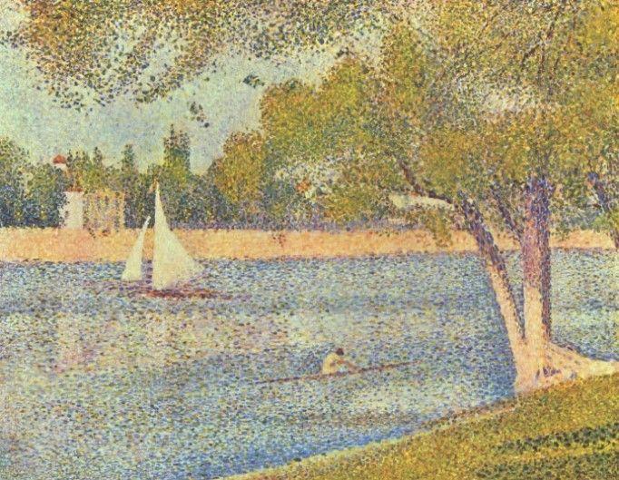 그랑드 자트 섬의 센 강, 봄
