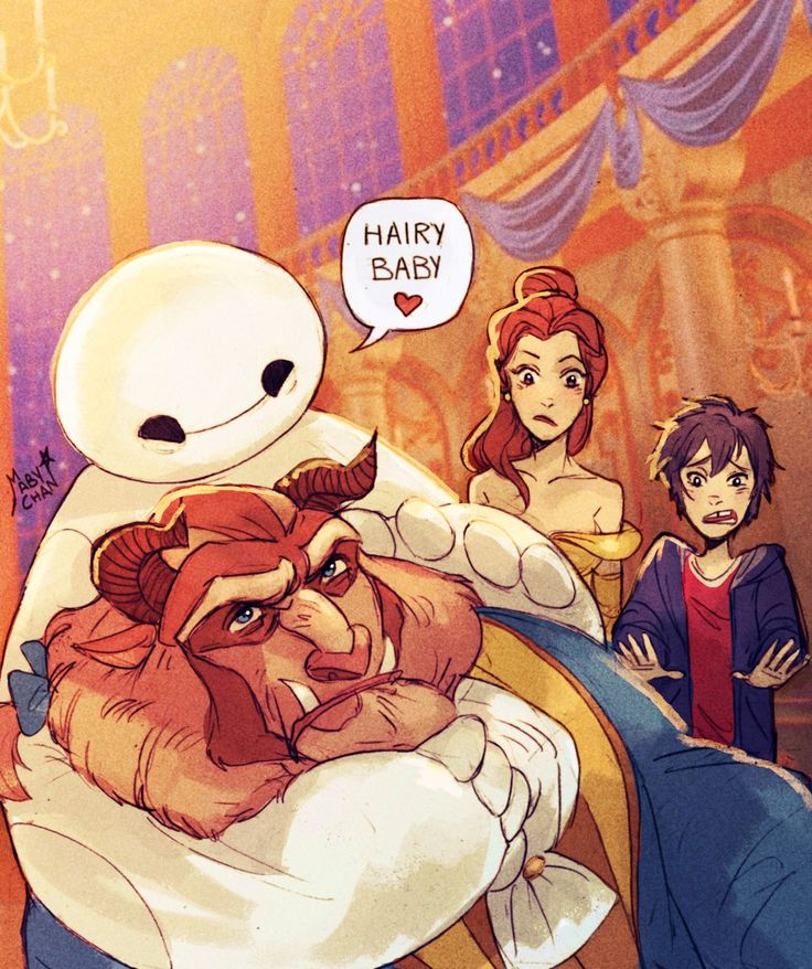 hairy baby ( That's so awesome!!) #BigHero6 #BeautyandtheBeast