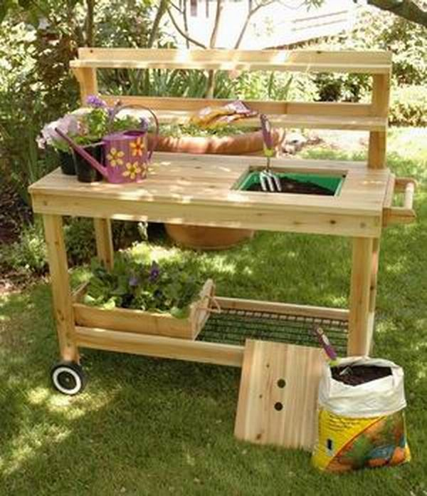 1000 Images About Potting Benches On Pinterest