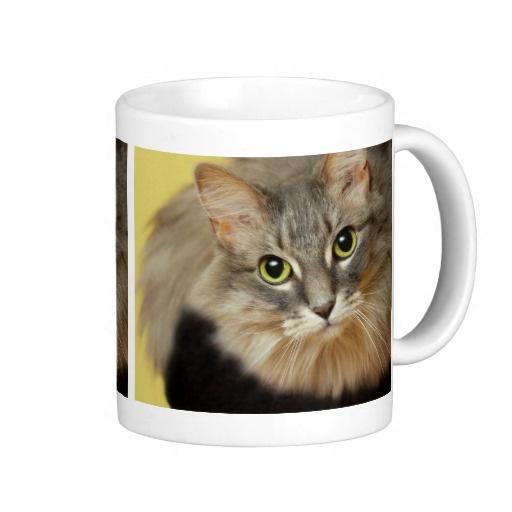 Customizable cat photo mug $14.80
