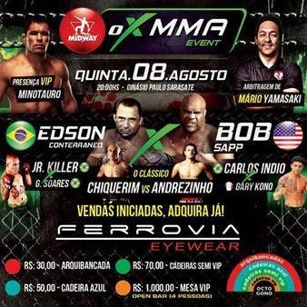 OX MMA 1 Fightcard mit Bob Sapp Ergebnisse - Results