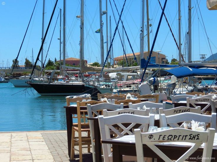 Choose you chair at Lefkada Town port
