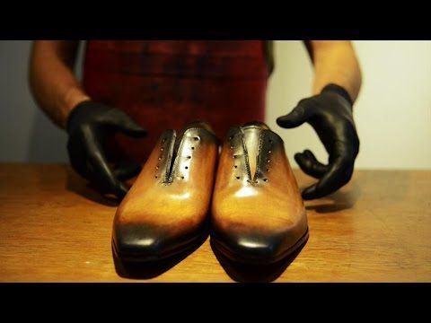 Hand made shoe patina - Patine de chaussures - YouTube
