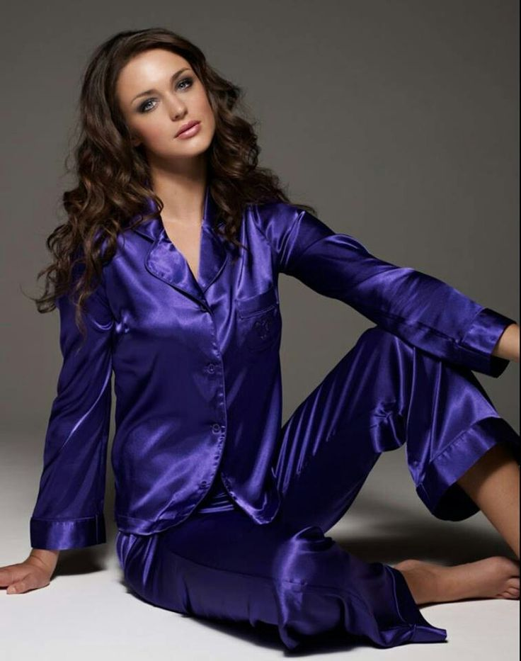 Blue Satin Pajamas   Lingerie   Pinterest   Blue satin, Satin ...