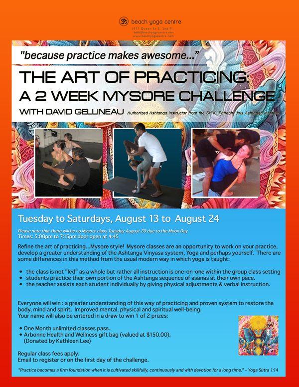 #yoga #mysore #challenge #ashtanga #vinyasa #flow #Toronto #alignment #practice #teaching #adjustments #beachyogacentre