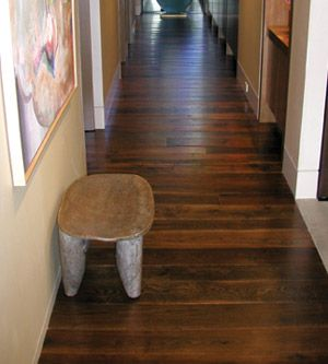 This Reclaimed Oak Floor Was Dyed Light Brown Had One