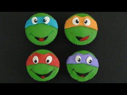 For my nephew-ninja turtles cupcakes - YouTube