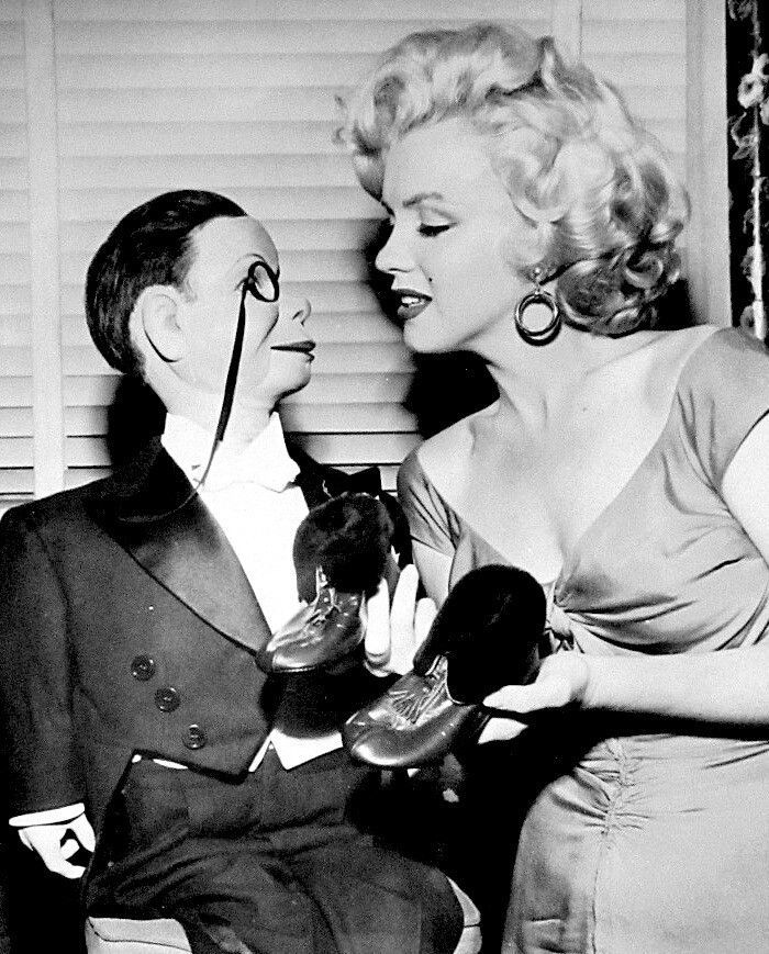 Marilyn💋on The Edgar Bergen, Charlie McCarthy Radio Show~ 1952
