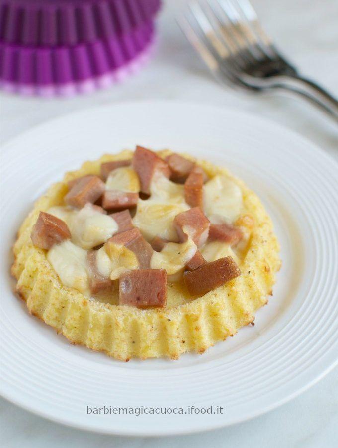 crostatine di patate mortadella e provola