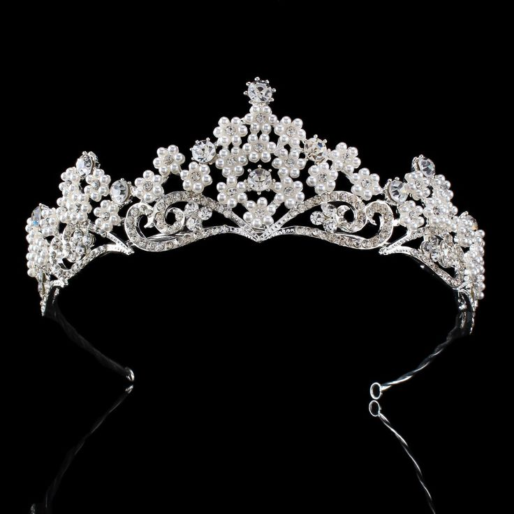 FUMUD Fashion hair jewelry wedding bridal crown accessories rhinestone pearl sparking women bridal tiara (116 #hairproduct