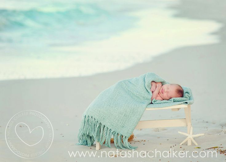 Beach newborn shoot