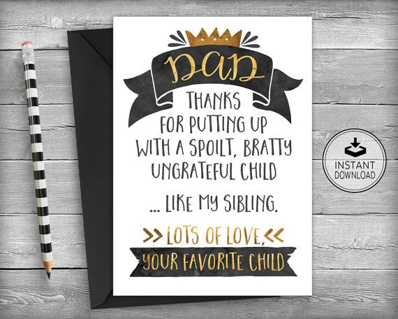 Fathers Day Card  Dad Birthday Crad  Father's Day