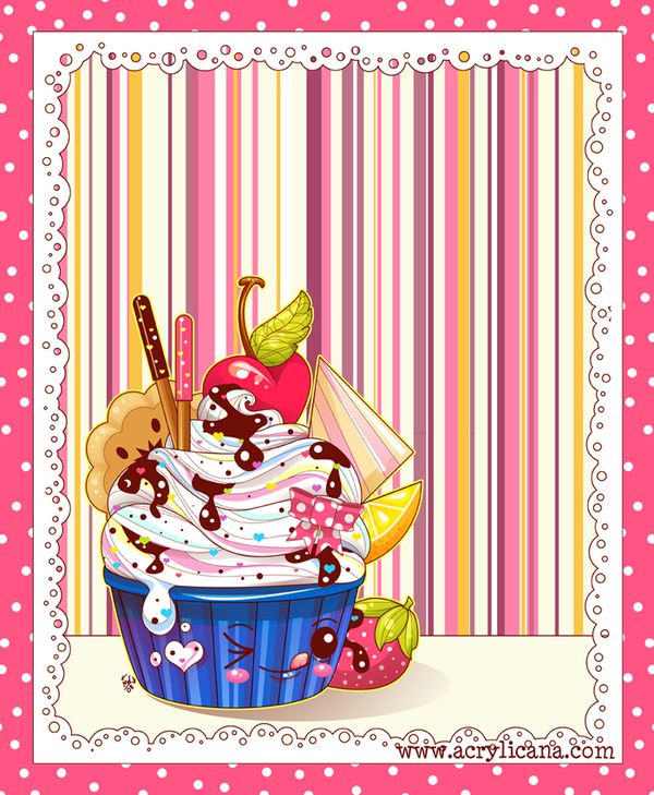 Sweets and Sparkles Mini Series by Mary Winkler, via Behance