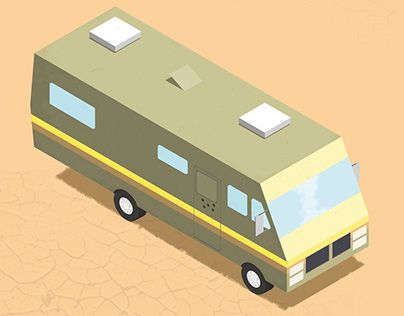"Check out new work on my @Behance portfolio: ""Breaking Bad RV - Isometric"" http://on.be.net/1HNnTQU"