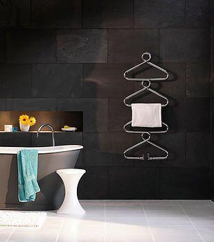 #locationhouse #style #tiles #bathroom #style #modern #interiordesign #design #interior #coathanger #radiator #funkyradiator #uniqueradiator