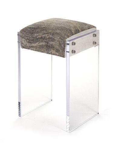 Acrylic Counter Stool - Cow Hide