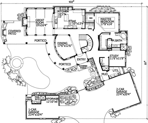 25 Best Ideas About House Plans With Pool On Pinterest