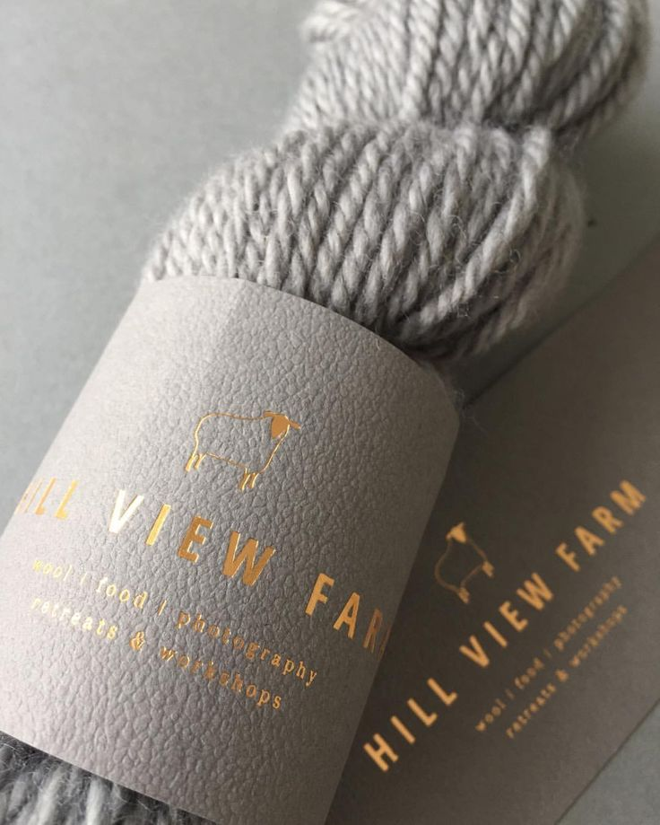 Packaging design for yarn.