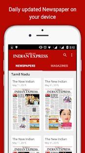 The New Indian Express: miniatura da captura de tela