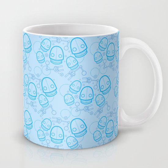A fun pattern featuring fun robot parts. Great for the kids and the young at heart! Unique and playful, great way to grab people's attention. #robot #cute #pattern #mug #mugs #robots #blue #unique #geekstyle #geek #nerdy #geeky #scifi #sciencefiction