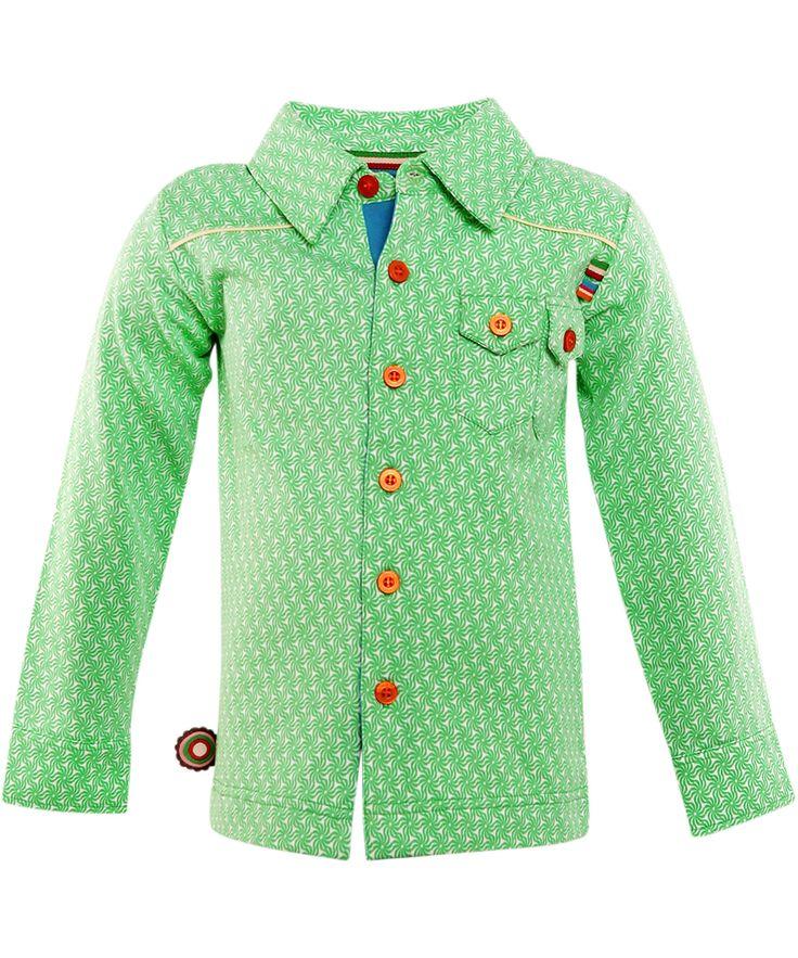 4FunkyFlavours super mooi licht groen hemd met grafische print. 4funkyflavours.nl.emilea.be