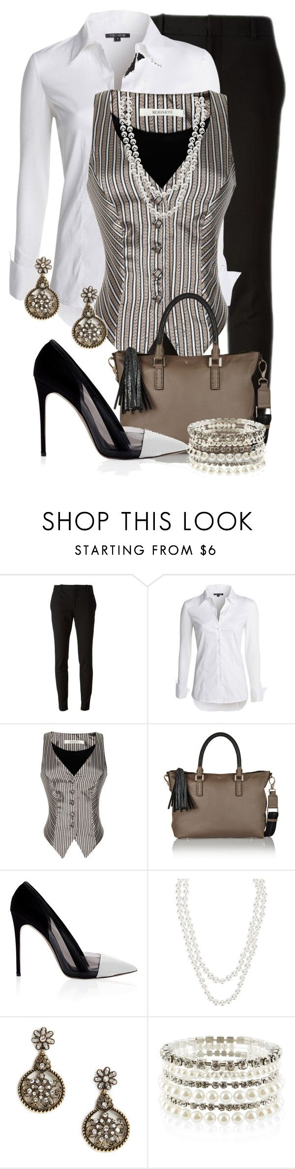 """Vested Interest"" by jennifernoriega ❤ liked on Polyvore featuring Gucci, NIC+ZOE, Rodarte, Anya Hindmarch, Prabal Gurung, Henri Bendel, Amrita Singh and Accessorize"