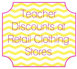 Teacher clothing discounts!