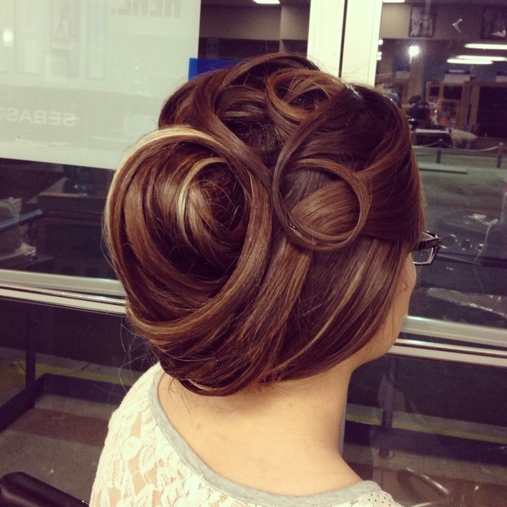 Practicing Updos For The Shanghai Competition My Hairstyles And Color Pinterest Updos And
