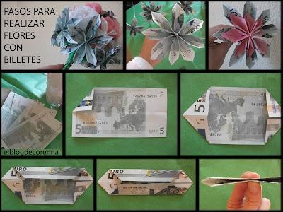 Regalos de boda originales - Flores hechas con billetes
