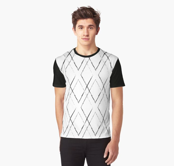 Geometric monochrome diamond pattern by LunaPrincino #lunaprincino #redbubble #print #prints #art #design #designer #graphic #clothes #for #men #apparel #shopping #tshirt #tees #top #fashion #style #pattern #geometric #geometry #ornament #lines #diamond #rhombus #grunge #black #and #white #monochrome #ink