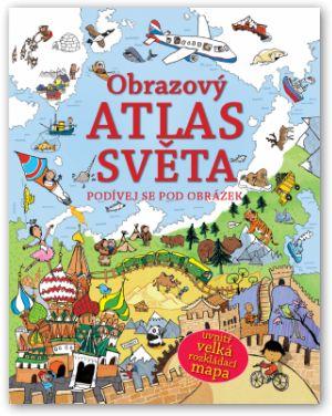 Encyklopedické leporelo s odklápěcími okénky. Kniha, encyklopedie pro děti. První atlas. Rozkládací mapa navíc.