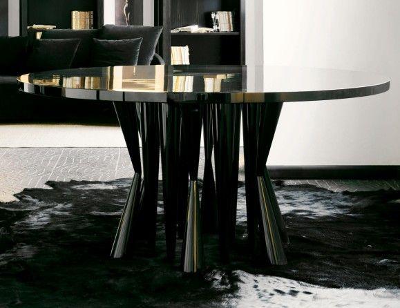 nella vetrina robin modern italian designer round wood dining table