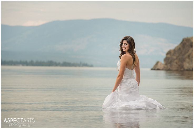Okanagan Trash the Dress Vernon BC Rock the Frock session at Ellison Park.  These two were totally awesome, and up for anything!  The gorgeous bride! #trashthedress #rockthefrock  www.aspectartsphoto.com
