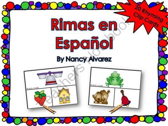 Rimas en español - PreK, Kinder