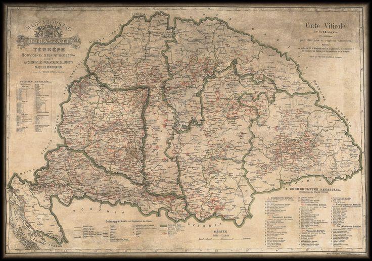 Magyarország borászati térképe 1886