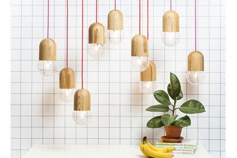 LightBean натуральное дерево, прозрачная лампа