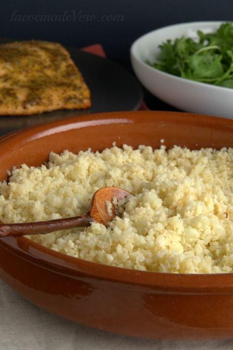 Arroz de coliflor #Delicios #Saludable #Vegetariano y listo en menos de 30 minutos