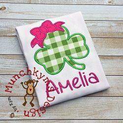 Shamrock Bow Files Applique - 4 Sizes! | Featured Products | Machine Embroidery Designs | SWAKembroidery.com