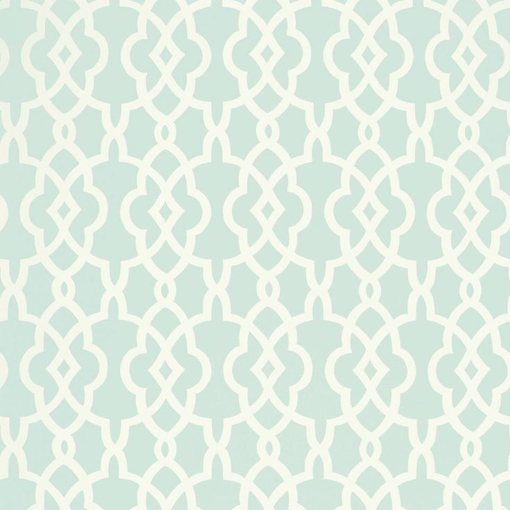 Drawing From A Traditional Fretwork Motif, The Handcrafted Summer Palace  Wallpaper Offers A Rich Graphic Design. This Classic Mineral Blue And White  ...