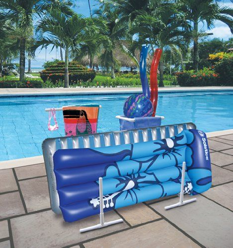 $44.95 Amazon.com: Raft, Float & Towel Caddy with Hamper for Swimming Pool: Patio, Lawn & Garden